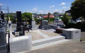 品のある洋型墓石の施工実例