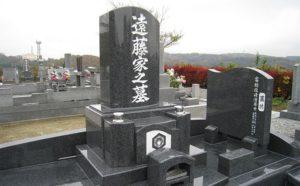 石塔と外柵を品の良いデザインのお墓