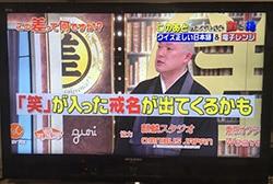 「笑」の墓のテレビ放送